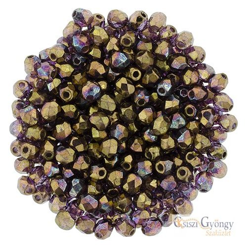 Crystal Bronze Vega - 50 db - 3 mm csiszolt gyöngy (LH00030)