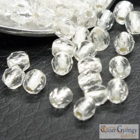 Silver Lined Crystal - 50 db - 3 mm csiszolt gyöngy (SL00030)