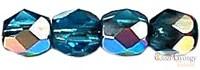 Vitrail Dark Aquamarine - 50 db - csiszolt gyöngy 3 mm (V60040)