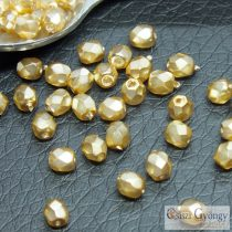 Golden - 50 Stück - 3 mm Glasschliffperlen (70486CR)