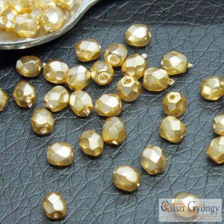 Golden - 50 db - 3 mm csiszolt gyöngy (70486CR)