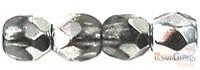 Coated 1/2 Silver - 50 Stück - 3 mm Glasschliffperlen (K2601)