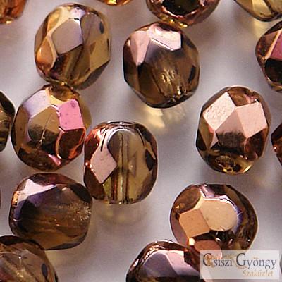 Copper Smoky Topaz - 50 db - 3 mm csiszolt gyöngy (C10230)