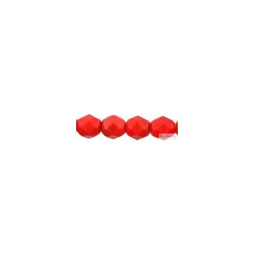 Opaque Red - 50 db - 3 mm csiszolt gyöngy (93200)