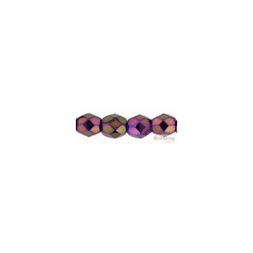 Iris Purple - 50 db - 3 mm csiszolt gyöngy (21495JT)