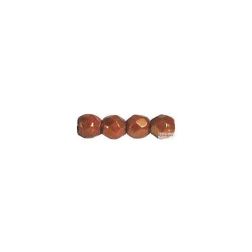 Luster Opaque Gold Topaz - 50 db - 3 mm csiszolt gyöngy (AK02010)