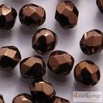 Dark Bronze - 40 Stk. - 4 mm Glasschliffperlen (LZ23980)