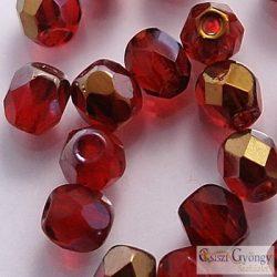 Bronz Iris Ruby - 40 db - 4 mm csiszolt gyöngy (ZR90100)