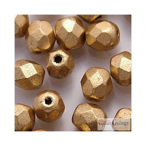 Matte Metallic Flax - 40 db - 4 mm csiszolt gyöngy (K0171JT)