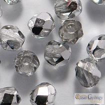 Silver 1/2 Crystal - 40 pc. - 4 mm Fire-polished Beads (S00030)