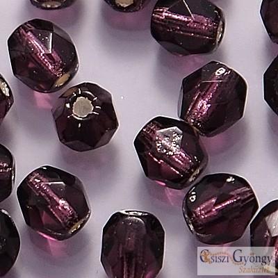 Silver Lined Tanzanite - 40 db - 4 mm csiszolt gyöngy (SL20510)