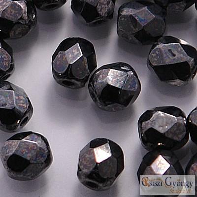 Hematite - 40 db - 4 mm csiszolt gyöngy (L23980)
