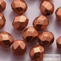 Matte Metallic Copper - 40 db - csiszolt gyöngy 4 mm (K0177JT)