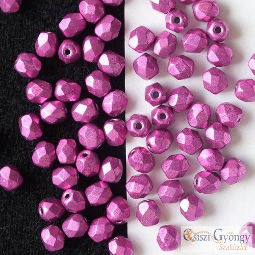 ColorTrends Metallic Pink Yarrow - 40 db - 4 mm csiszolt gyöngy (77062CR)