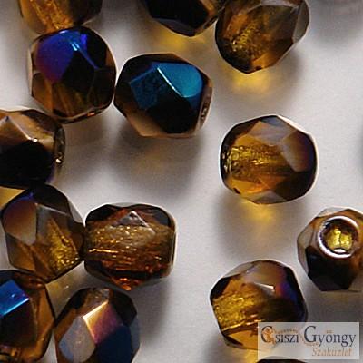 Blue Iris Dark Topaz - 40 db - 4 mm csiszolt gyöngy (BR10100)