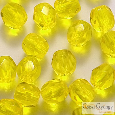 Lemon - 40 db - csiszolt gyöngy 4 mm (80020)