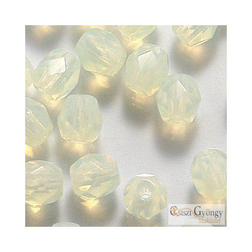 Milky Jonquil - 40 db - 4 mm csiszolt üveggyöngy (81000)
