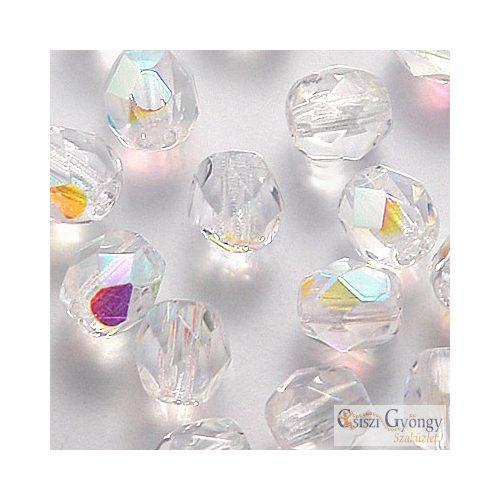 Crystal AB - 40 db - 4 mm csiszolt gyöngy (X00030)