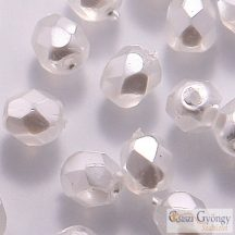 Opaque White Pearl - 40 db - csiszolt gyöngy 4 mm (70402CR)