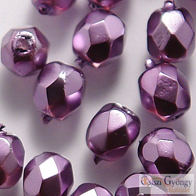 Plum Pearl - 40 pc. - 4 mm fire-polished beads (70022CR)