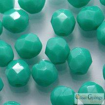 Opaque Turquoise - 40 db - 4 mm csiszolt gyöngy (63130)