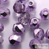 Coated Silver Violet - 40 Stk. - 4 mm Glasschliffperlen (K2208CR)