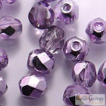 Coated Silver Violet - 40 Stk. - 4 mm Glasschliffperlen (K2208CR)