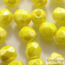 Luster Opaque Yellow - 40 db - 4 mm csiszolt gyöngy (83120)
