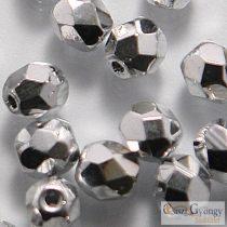 Silver- 40 db - 4 mm csiszolt gyöngy (27000CR)