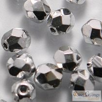 Silver - 40 pc. - Firepolished beads, size: 4 mm (27000CR)