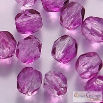 Coated Sugar Plum- 40 Stk - Glasschliffperlen 4 mm (K32212CR)