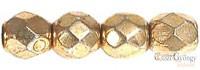 Golden Coated - 40 db - csiszolt gyöngy 4 mm (97487CR)