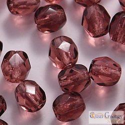 Amethyst - 40 db - 4 mm csiszolt gyöngy (20060)