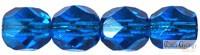 Dark Capri Blue - 40 db - 4 mm csiszolt gyöngy (60310)
