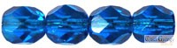 Dark Capri Blue - 40 pc. - 4 mm fire-polished beads (60310)