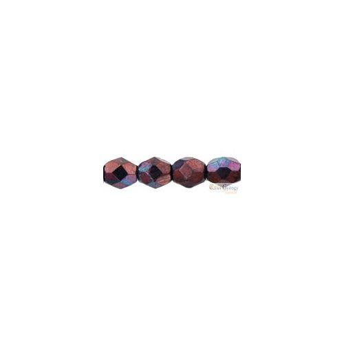 Luster Metallic Amethyst - 40 db - 4 mm csiszolt gyöngy (LE23980)