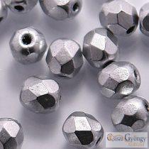 Matte Met. Aluminium - 40 db - 4 mm csiszolt gyöngy (K0170JT)