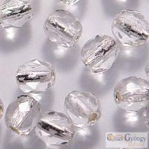 Silver Lined Crystal - 40 db - csiszolt gyöngy 4 mm (SL00030)