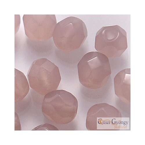 Dark Milky Amethyst - 40 db - 4 mm csiszolt gyöngy (22010)