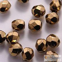 Gold Bronze - 40 db  4 mmcsiszolt üveggyöngy (90215JT)