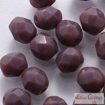 Opaque Purple - 40 db - 4 mm csiszolt gyöngy (23030)