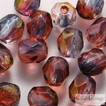 Luster Amethyst Blue Crystal - 40 db - 4 mm csiszolt gyöngy (91006)