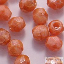Luster Pink Coral - 40 db - csiszolt gyöngy 4 mm (LO74020)