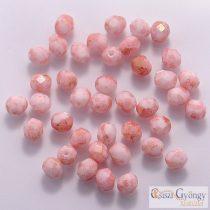 Pink Luster Opaque White - 40 Stk. - 4mm Glasschliffperlen (LP03000)
