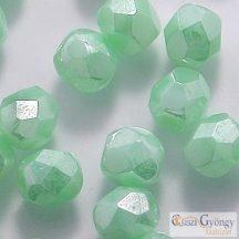 Luster Opaque Azur Turquoise - 40 db - 4 mm csiszolt gyöngy (L54200)