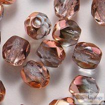 Copper Light Sapphire - 40 db - 4 mm csiszolt gyöngy (C30020)