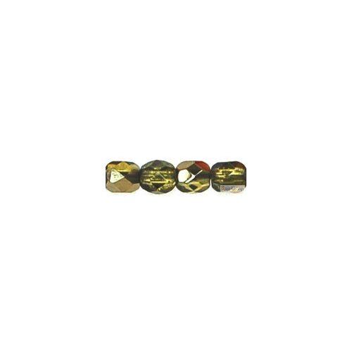 Bronz Iris Dk Olivine - 40 db - 4 mm csiszolt gyöngy (ZR50316)