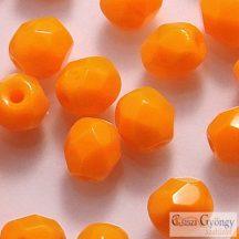 Opaque Orange - 40 db - 4 mm csiszolt üveggyöngy (93120)