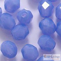 Milky Sapphire - 40 db - csiszolt gyöngy 4 mm (31010)