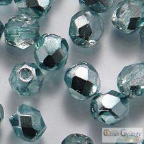 Coated 1/2 Silver Teal - 40 db - 4 mm csiszolt gyöngy (K2504CR)